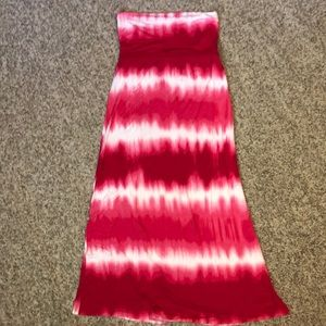 Pink/Red Ombre Long Skirt
